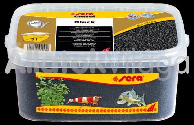 Sera Gravel Black 2-3 mm-es fekete akváriumi aljzat 3 literes