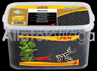 Sera Gravel Black 2-3 mm-es fekete akváriumi aljzat 6 literes