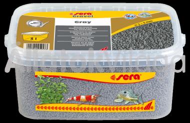 Sera Gravel Gray 2-3 mm-es szürke akváriumi aljzat 3 literes