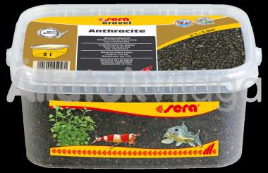 Sera Gravel Anthracite 1-3 mm-es antracit akváriumi aljzat 3 literes