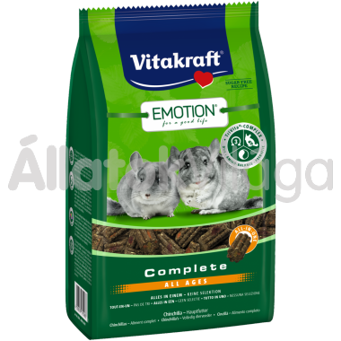 Vitakraft Emotion Complete All Ages csincsilla eledel 800 g-os