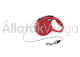 Flexi New Classic Cord XS-es 3 m-es automata póráz zsinóros piros