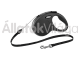 Flexi New Classic Cord S-es 5 m-es automata póráz zsinóros fekete